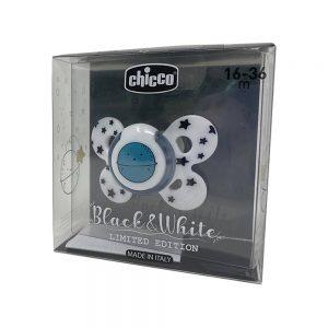Chicco Succhietto Comfort in Silicone Balck & White Edizione Limitata 16-36mesi