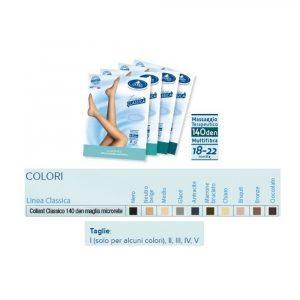 Sauber Collant 140 denari Microrete Neutro/Beige Taglia 2