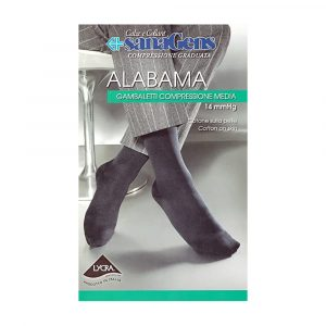 Alabama Calza Uomo Cotone Lycra Nero Taglia S
